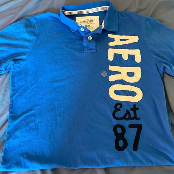 Aeropostale Other - Blue Medium Aeropostale Short Sleeve Collar Shirt